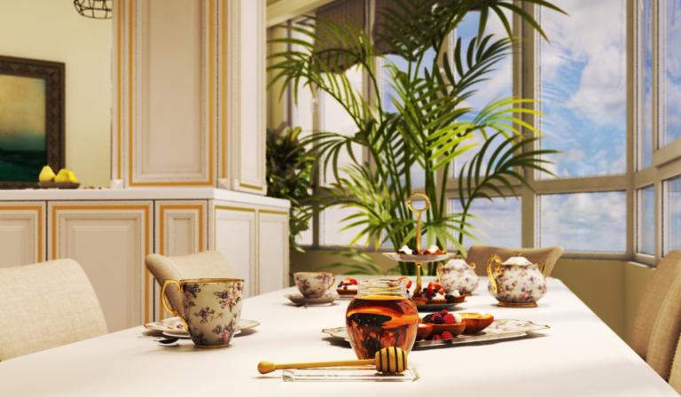 интерьер кухни в итальянской классике