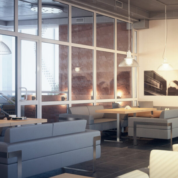 дизайн ресторана кафе