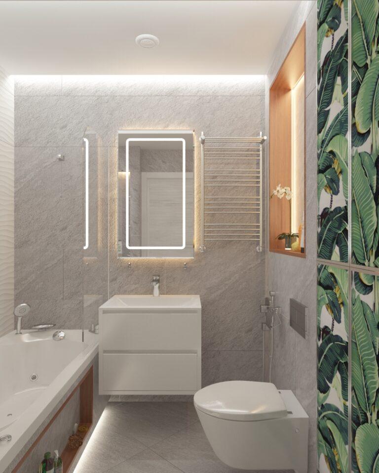 светлая ванная дизайн