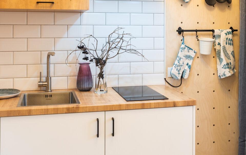 Кухня с перфо-бордом