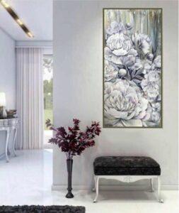 картина с белыми розами купить
