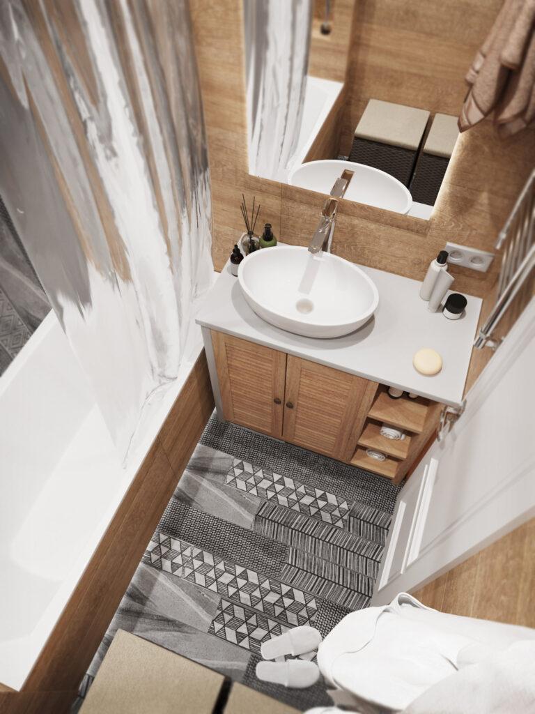 дизайн ванной комнаты маленьой