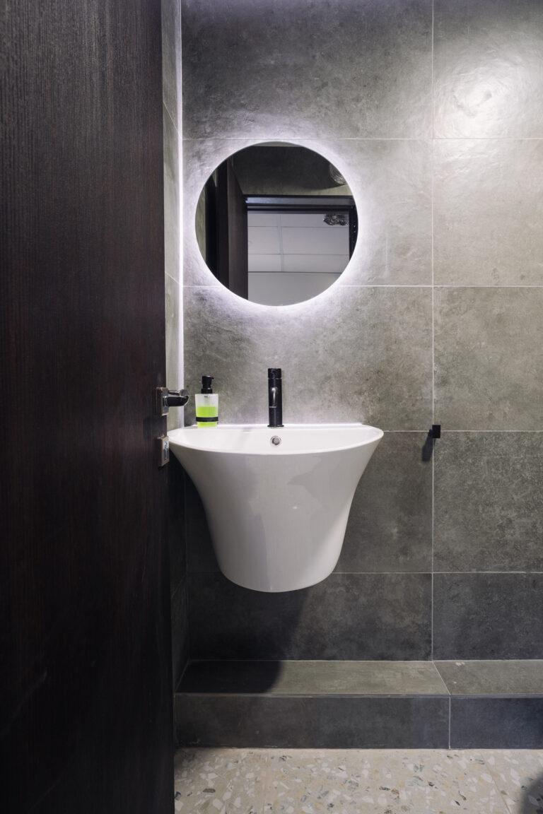 туалет плитка под бетон