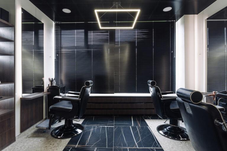 мужской зал в парикмахерской дизайн