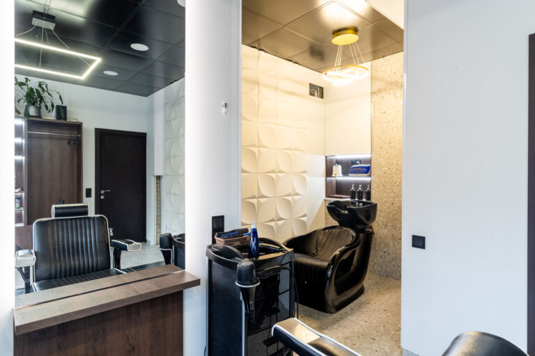 дизайн салона красоты зона мытья голоы